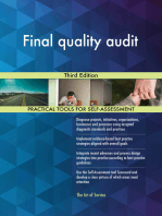 Final quality audit Third Edition