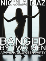 Banged By Two Men At The Halloween Party