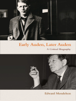 Early Auden, Later Auden
