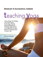 Develop a Successful Career Teaching Yoga