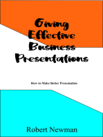 Giving Effective Business Presentations