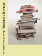 Enseigner la littérature