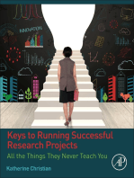 Keys to Running Successful Research Projects