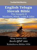 English Telugu Slovak Bible - The Gospels II - Matthew, Mark, Luke & John