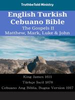 English Turkish Cebuano Bible - The Gospels II - Matthew, Mark, Luke & John