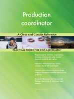 Production coordinator A Clear and Concise Reference