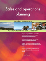 Sales and operations planning Standard Requirements