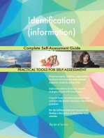 Identification (information) Complete Self-Assessment Guide