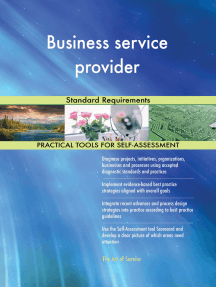 Business service provider Standard Requirements