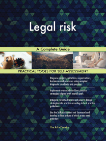 Legal risk A Complete Guide