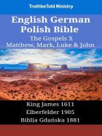 English German Polish Bible - The Gospels X - Matthew, Mark, Luke & John