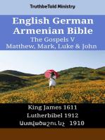 English German Armenian Bible - The Gospels V - Matthew, Mark, Luke & John