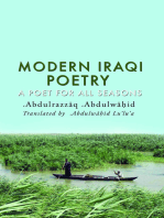 Modern Iraqi Poetry-A Poet for All Seasons