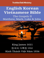 English Korean Vietnamese Bible - The Gospels II - Matthew, Mark, Luke & John