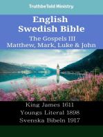 English Swedish Bible - The Gospels III - Matthew, Mark, Luke & John