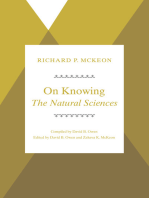 On Knowing--The Natural Sciences
