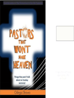 Pastors That Won't Make Heaven