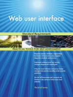 Web user interface Standard Requirements