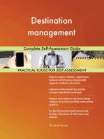 Destination management Complete Self-Assessment Guide