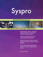 Syspro Standard Requirements