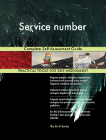 Service number Complete Self-Assessment Guide
