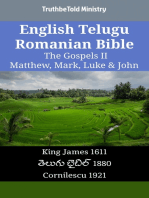 English Telugu Romanian Bible - The Gospels II - Matthew, Mark, Luke & John