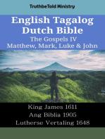 English Tagalog Dutch Bible - The Gospels IV - Matthew, Mark, Luke & John