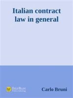 Italian Contract Law in General