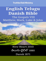 English Telugu Danish Bible - The Gospels VIII - Matthew, Mark, Luke & John