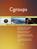 Cgroups Standard Requirements