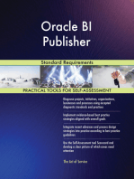 Oracle BI Publisher Standard Requirements