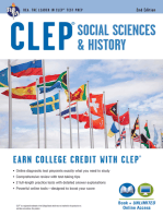 CLEP® Social Sciences & History Book + Online, 2nd Ed.