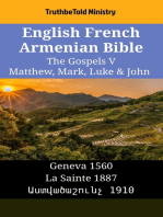 English French Armenian Bible - The Gospels V - Matthew, Mark, Luke & John