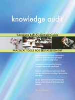 knowledge audit Complete Self-Assessment Guide