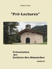 Pré-lectures B: Présentation des lectures des dimanches