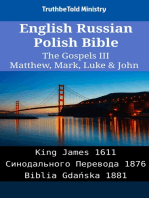 English Russian Polish Bible - The Gospels III - Matthew, Mark, Luke & John
