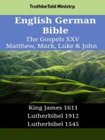 English German Bible - The Gospels XXV - Matthew, Mark, Luke & John
