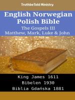 English Norwegian Polish Bible - The Gospels III - Matthew, Mark, Luke & John