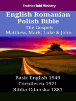 English Romanian Polish Bible - The Gospels - Matthew, Mark, Luke & John