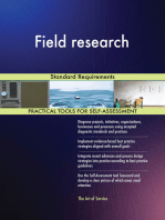 Field research Standard Requirements