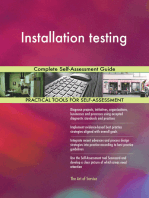 Installation testing Complete Self-Assessment Guide