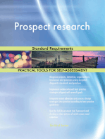 Prospect research Standard Requirements