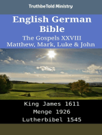 English German Bible - The Gospels XXVIII - Matthew, Mark, Luke & John