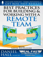 Best Practices for Building and Working with a Remote Team