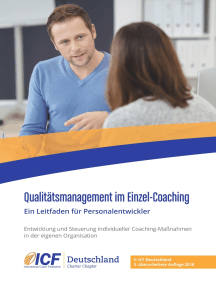 Qualitätsmanagement im Einzel-Coaching: Ein Leitfaden für Personalentwickler