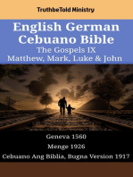 English German Cebuano Bible - The Gospels IX - Matthew, Mark, Luke & John