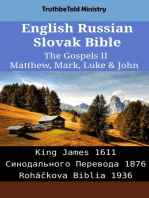 English Russian Slovak Bible - The Gospels II - Matthew, Mark, Luke & John