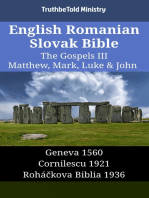 English Romanian Slovak Bible - The Gospels III - Matthew, Mark, Luke & John