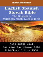 English Spanish Slovak Bible - The Gospels IV - Matthew, Mark, Luke & John