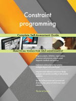 Constraint programming Complete Self-Assessment Guide